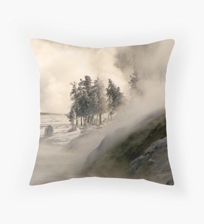 Midway Basin, Yellowstone NP Throw Pillow