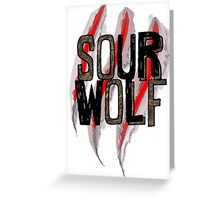 SOUR WOLF Greeting Card