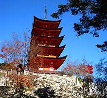 Miyajima 5 Tier Pagoda by Luke McLaughlan