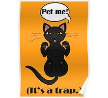 Trap Cat (Black Cat) Poster