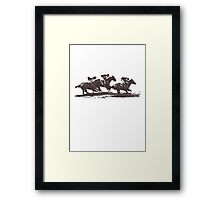 Horse Races Framed Print