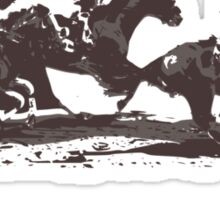 Horse Races Sticker