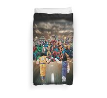 Saiyans vs Marvel's Heroes Duvet Cover