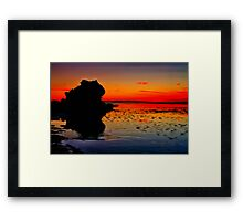 """Dawn Reflections on the Receding Tide"" Framed Print"