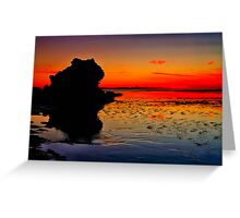 """Dawn Reflections on the Receding Tide"" Greeting Card"
