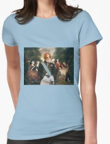 Borzoi - Russian Wolfhound Art Canvas Print - Artist seiling his painting Womens Fitted T-Shirt