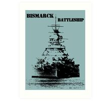 Bismarck Battleship Art Print