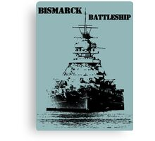Bismarck Battleship Canvas Print