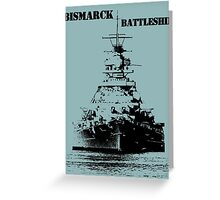 Bismarck Battleship Greeting Card