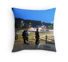 Time Lapse in Ginza Throw Pillow