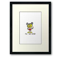 Mickey Squarepants Framed Print