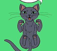Trap Cat (Russian Blue Cat) by ErinA2