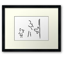 Dental cleaning bath Dental care Framed Print