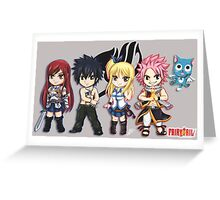 Fairy Tail Friends Chibi Greeting Card