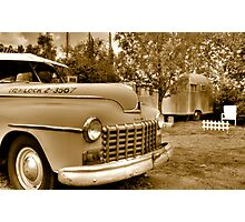 Taxi and Airstream Photographic Print