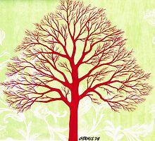 THE OLD RED TREE by RainbowArt