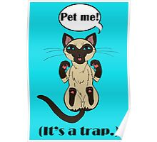 Trap Cat (Siamese Cat) Poster