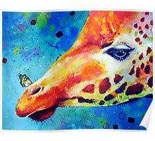 Giraffe and the Butterfly Poster