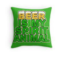 Beer Spirit Animal Throw Pillow