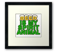 Beer Spirit Animal Framed Print