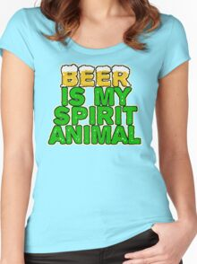 Beer Spirit Animal Women's Fitted Scoop T-Shirt