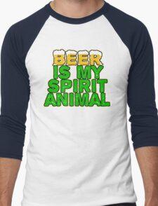 Beer Spirit Animal Men's Baseball ¾ T-Shirt