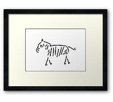 zebra Africa Framed Print
