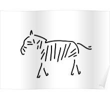 zebra Africa Poster