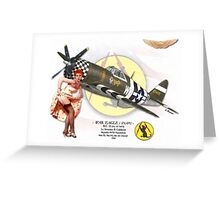 War Eagle - P47D Thunderbolt Greeting Card