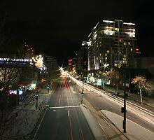 North Terrace At Night by Jamie  Druitt