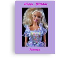 Happy Birthday Princess Canvas Print