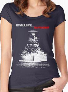 Bismarck - Battleship Women's Fitted Scoop T-Shirt