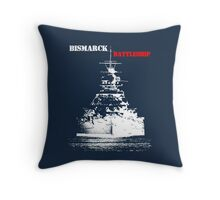 Bismarck - Battleship Throw Pillow