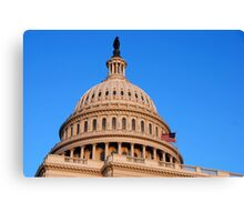 U. S. Capitol Dome and Statue of Freedom > Canvas Print