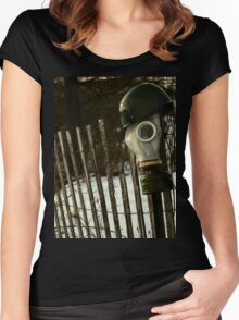 What Happened To The Post-War Dream? Women's Fitted Scoop T-Shirt