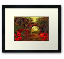 Ye olde railway bridge'... Framed Print