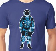 Lone Blue Astronaut Illustration Unisex T-Shirt