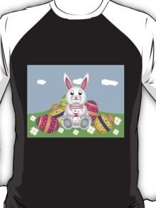 White bunny with Easter eggs 2 T-Shirt