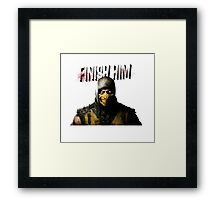 Mortal Kombat X - Finish Him Framed Print