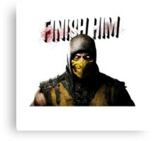 Mortal Kombat X - Finish Him Canvas Print