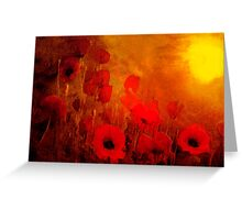 Poppy heaven'... Greeting Card