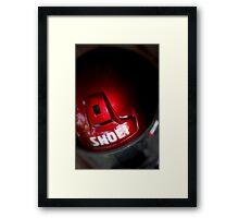 Biker's Helmet Framed Print
