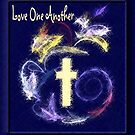 Love One Another (blue version) by Marie Sharp