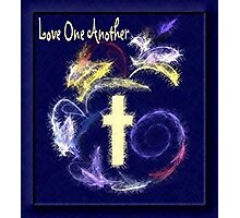 Love One Another (blue version) Photographic Print