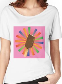 Chocolate Ice Cream Background 2 Women's Relaxed Fit T-Shirt