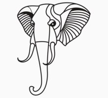 Elephant Head Illustration by tshirtdesign