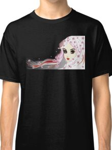 Floral Girl with White Hair 3 Classic T-Shirt