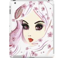 Floral Girl with White Hair 3 iPad Case/Skin