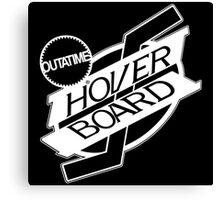 Hover Board Logo (White) Canvas Print