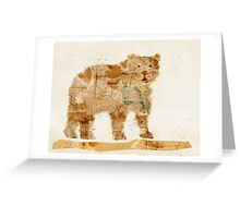 bear grizzly  Greeting Card